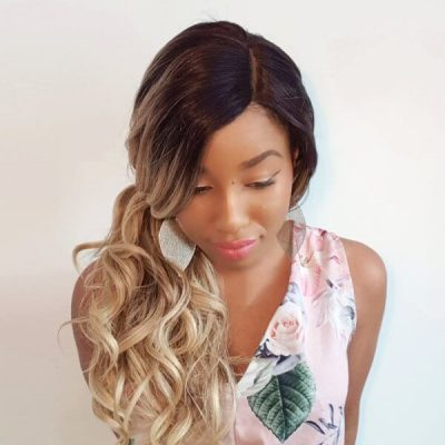 Realistische balayage curly wig