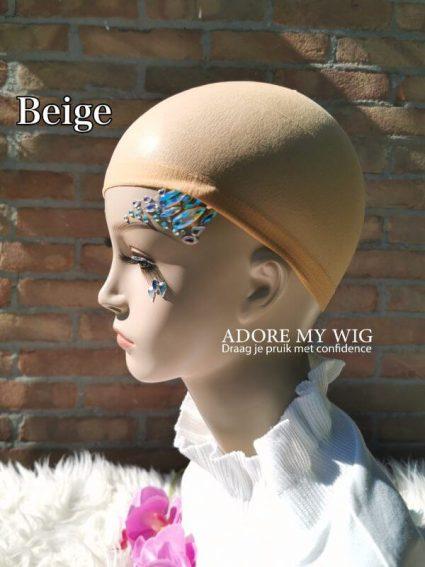 Beige Huidskleur Wig cap