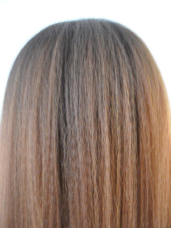 Bruine Yaki Black hair pruik