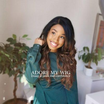 ombre bruine lace wig