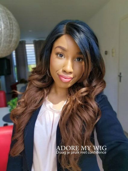 bruine lace wig