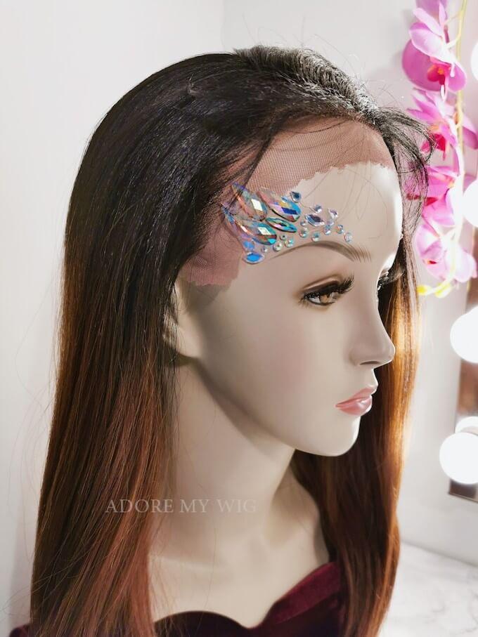 Closeup pruik lace front