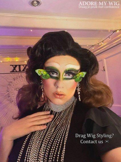 drag queen pruik bruin