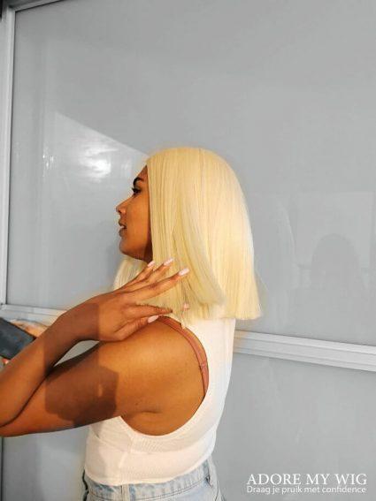 blonde boblijn pruik