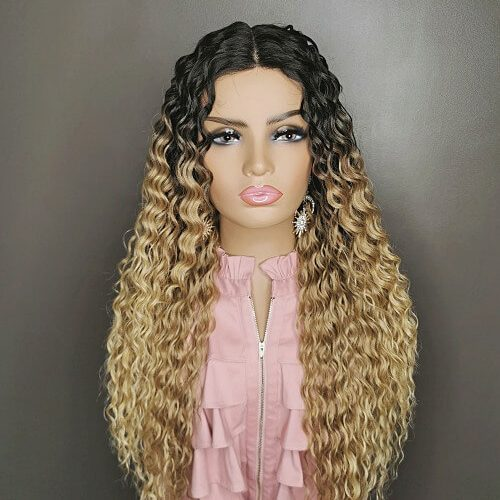 Caribbean Kinky Curly Wig Ombre
