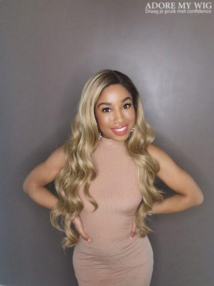 Golden brown lace wig kopen
