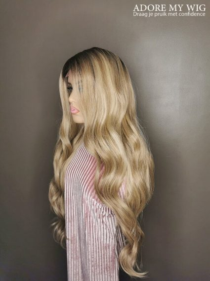 Golden Blonde Pruik Adore My Wig