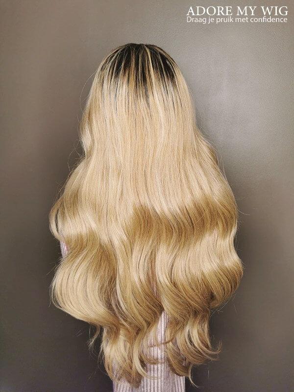 Golden Blonde Wavy Wig
