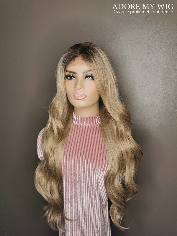 Golden Blonde Wavy Wig Adore My Wig