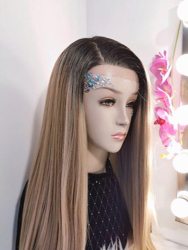 lange blonde wig