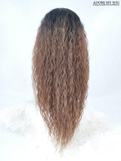 Bruine Curly Wig