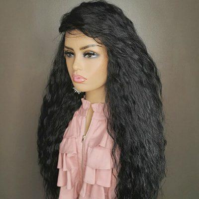 Zwarte krullen pruik adore my wig