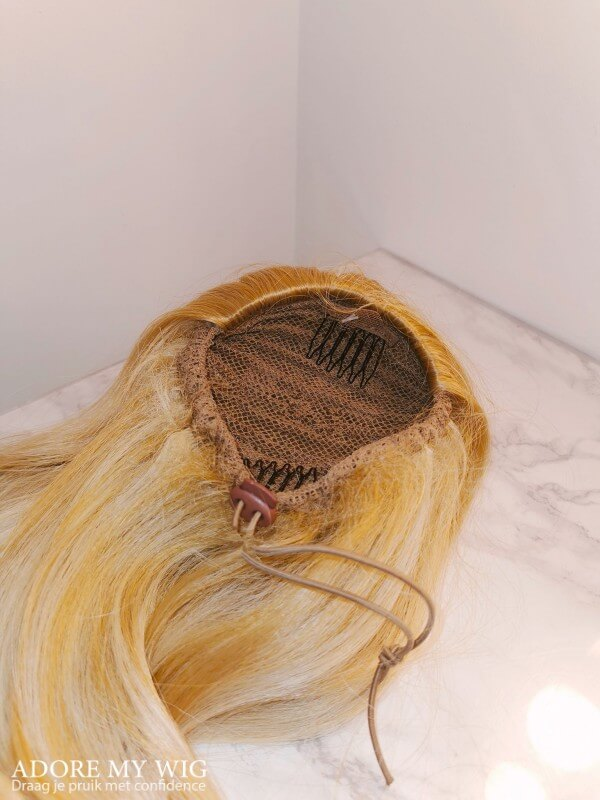Blonde ponytail 2 clips trekkoord