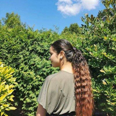 Bruine ombre ponytail
