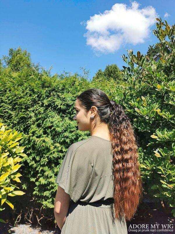 Bruine ombre ponytail
