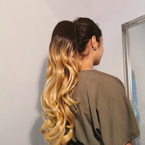 Ombre Blonde Ponytail extension