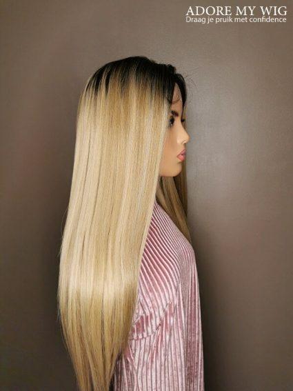 Golden Blonde Straight Wig