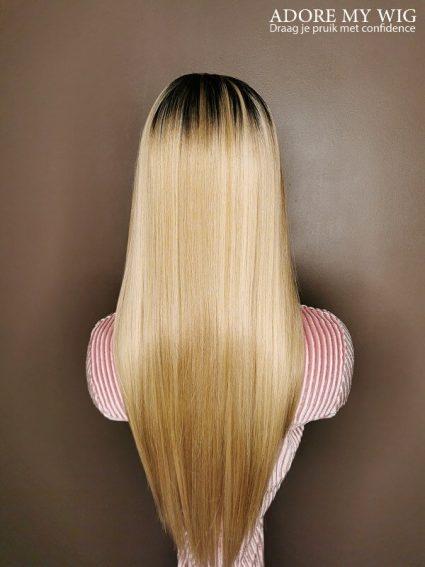 Lange Blonde Straight Wig