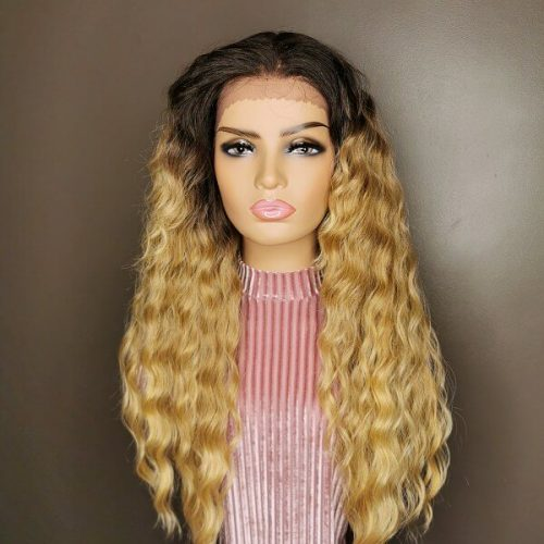 Caribbean Curly Wig bruin blond