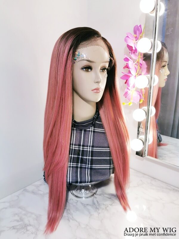 Roze Wig AdoreMyWig