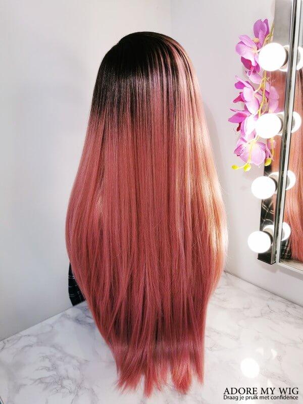 Lange Roze Pruik AdoreMyWig