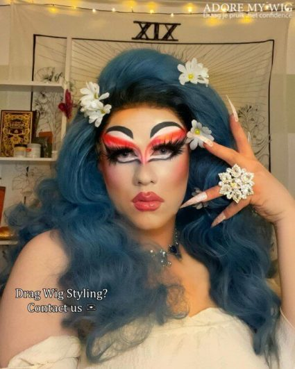 drag queen wig styling