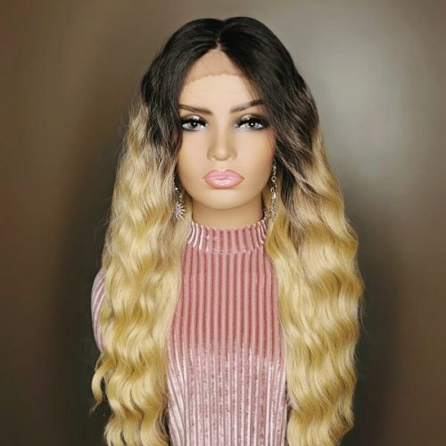 4X4 Curly Lace Wig Blond