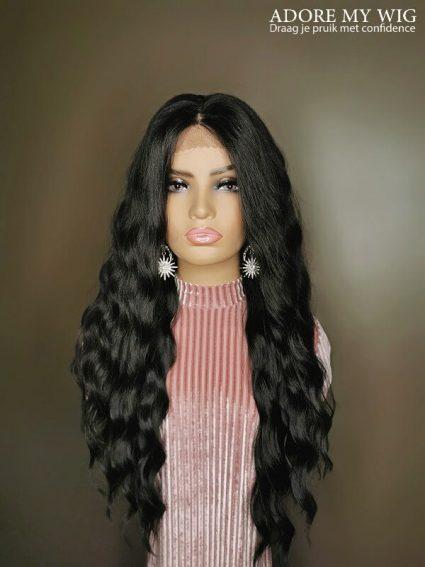 4X4 Lace Wig Zwart