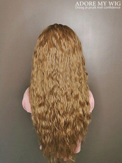 Bruin Closure Wig krullen