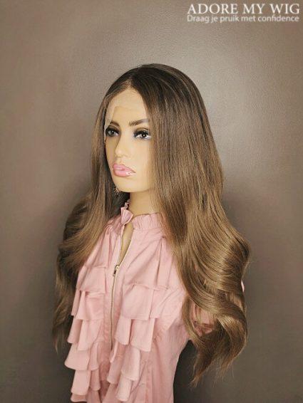 Donkere uitgroei bruine wig