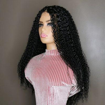 Kinky Curly Wig Zwart