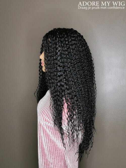 Kinky Curly Wig Zwart 1B