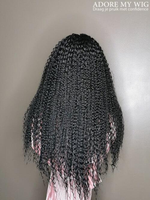 Kinky Curly Wig Zwart Gedefinieerde krullen